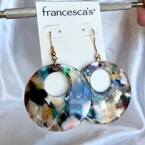 Francesca's Collections Jewelry - NWT Francesca's Marbled Drop Earrings
